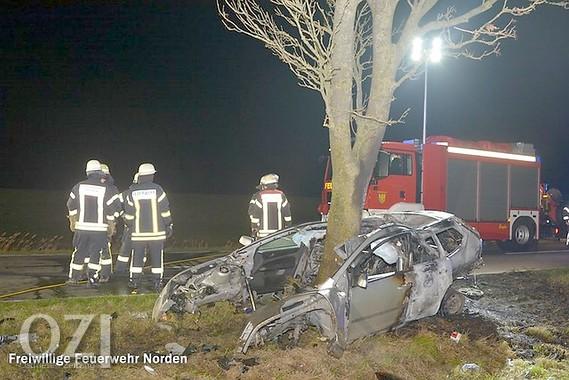 25-Jähriger stirbt bei Autounfall - Ostfriesen-Zeitung