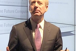 Der Chefjustiziar vom Software- und Hardwarehersteller Microsoft, Brad Smith. Foto: Renate Grimming